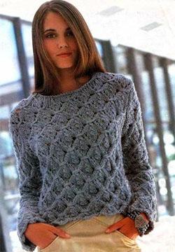 вязание женского свитера
