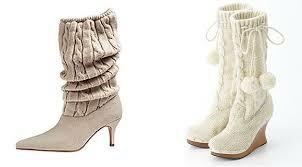Ассортимент вязаной обуви