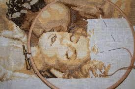 Неполные крестики при вышивании крестиком