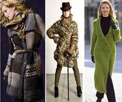 Вязаное пальто согреет в ненастье