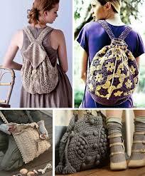 Узоры вязаной сумочки
