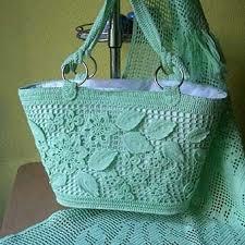 Современные вязаные сумки